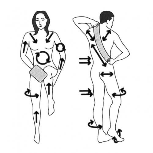 Trockenbürstenmassage in der Anwendung